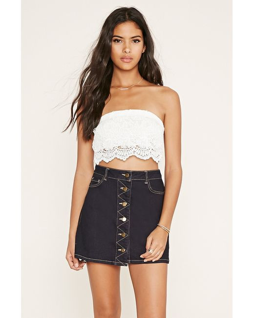 White Crochet Crop tops Unique forever 21 Strapless Crochet Crop top In White Of Gorgeous 46 Pics White Crochet Crop tops