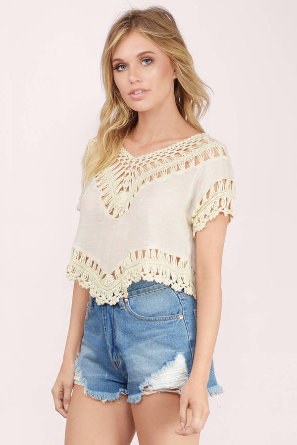White Crochet Crop tops Unique White Crochet Crop top Of Gorgeous 46 Pics White Crochet Crop tops