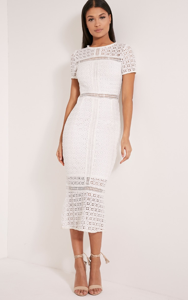 White Crochet Dress Awesome Midira White Crochet Lace Midi Dress Of Adorable 49 Pics White Crochet Dress