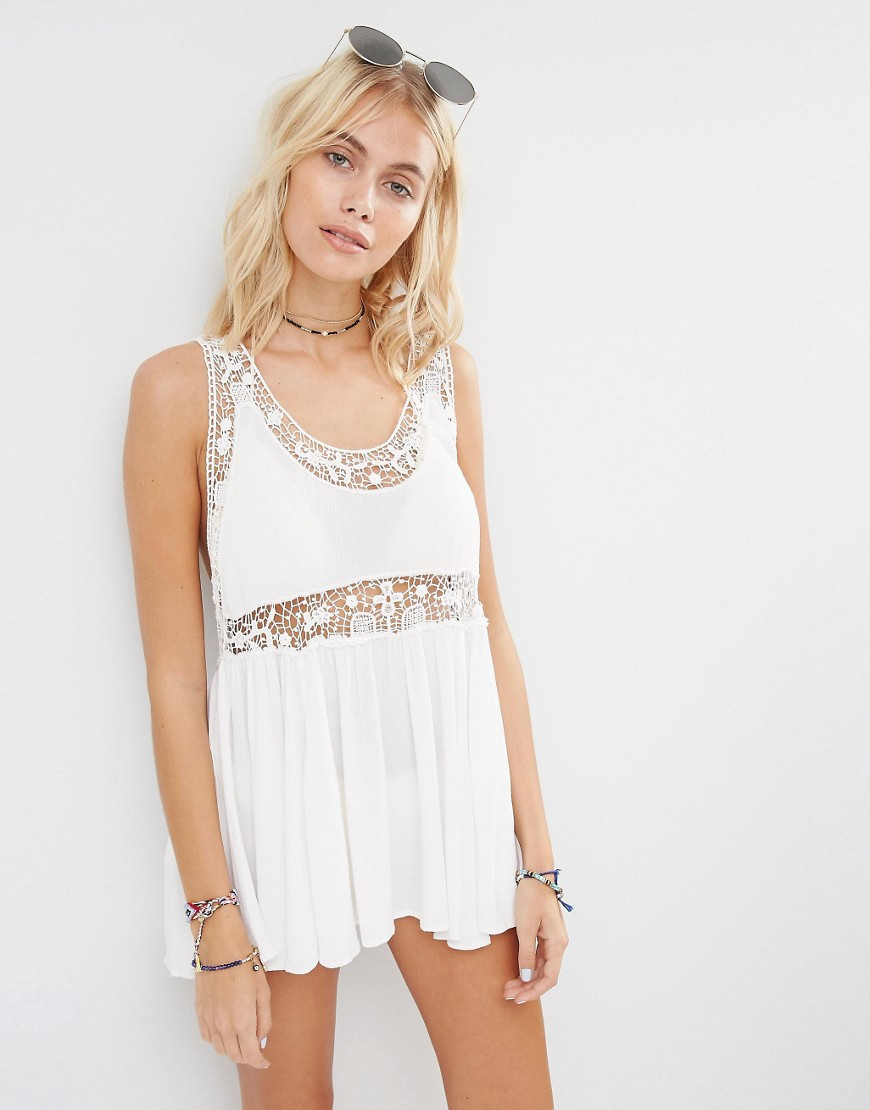 White Crochet Dress Best Of Lyst Surf Gypsy White Crochet Mini Beach Dress In White Of Adorable 49 Pics White Crochet Dress