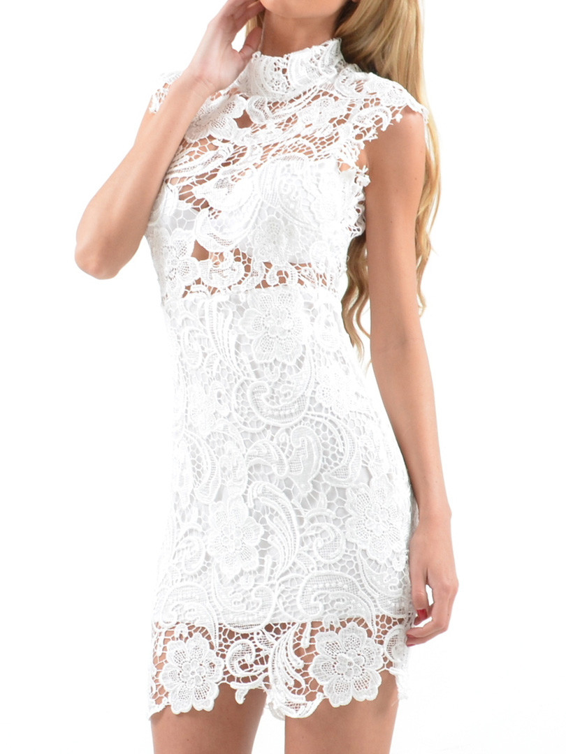 White Crochet Dress Fresh Cheap Sale Crochet Lace Bodycon Dress Cheap Price White Of Adorable 49 Pics White Crochet Dress