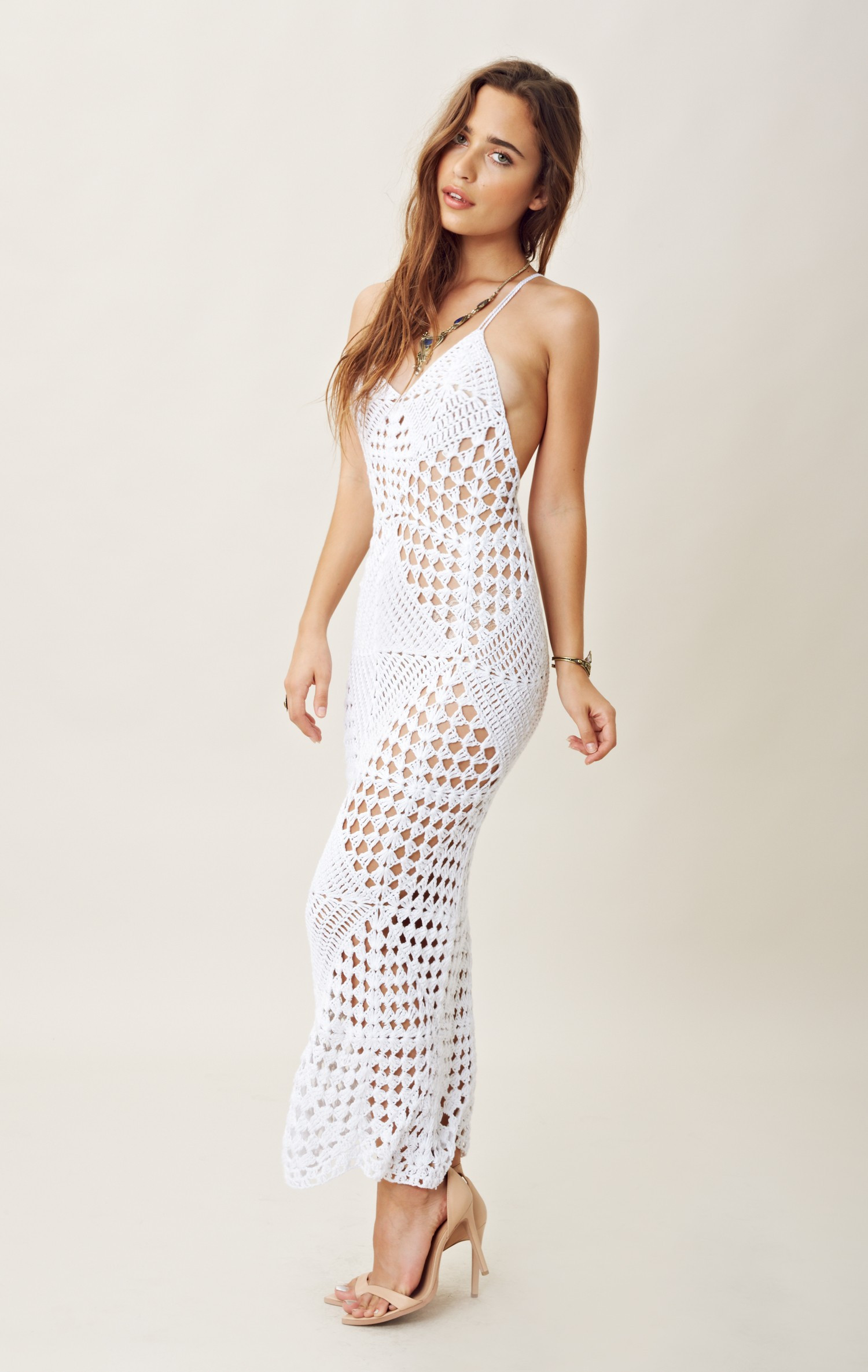 White Crochet Dress Fresh Indah Crochet Maxi Dress In White Of Adorable 49 Pics White Crochet Dress
