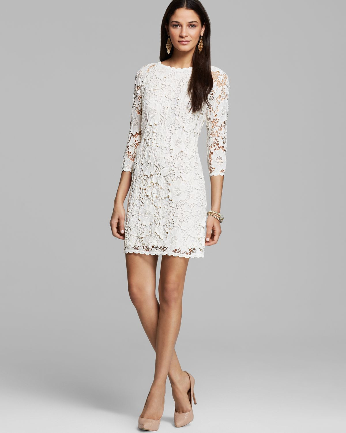 White Crochet Dress Lovely Lyst Velvet by Graham & Spencer Leslea Crochet Lace Of Adorable 49 Pics White Crochet Dress