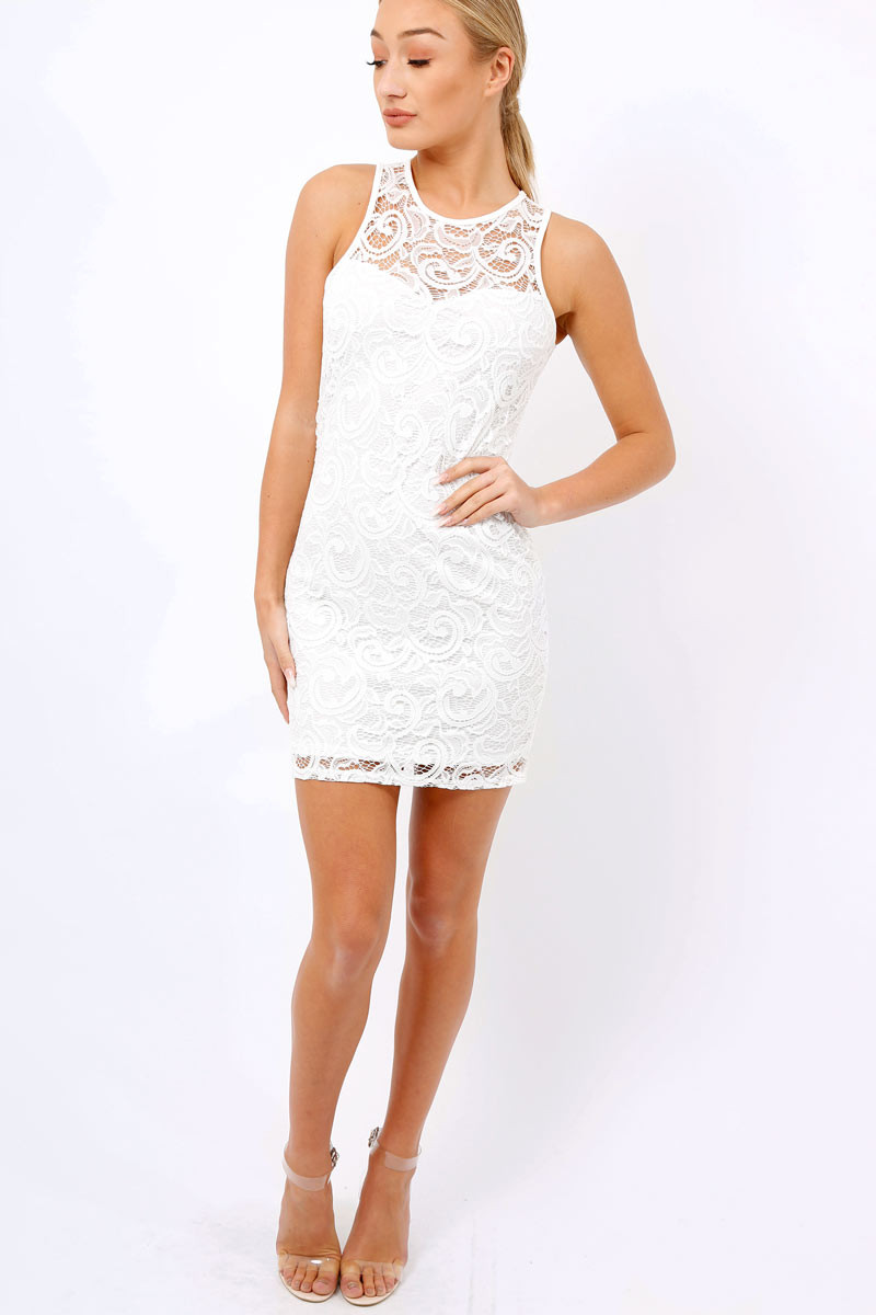 White Crochet Dress Lovely White Crochet Bodycon Dress Marcella Of Adorable 49 Pics White Crochet Dress