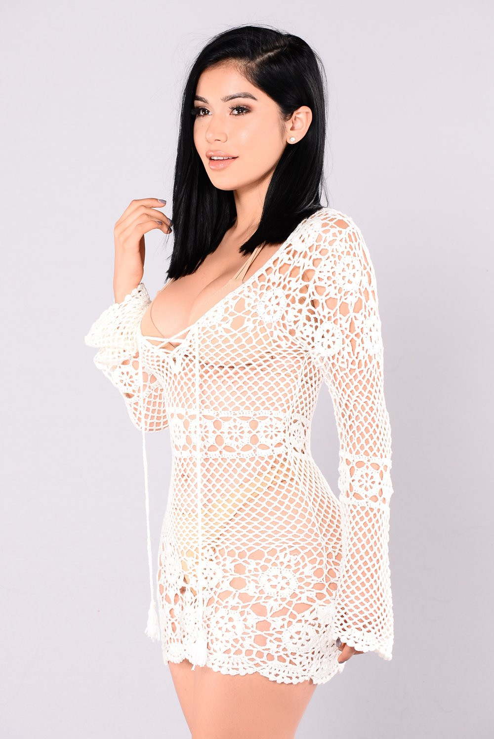 White Crochet Dress New Zaneta Crochet Dress F White Of Adorable 49 Pics White Crochet Dress