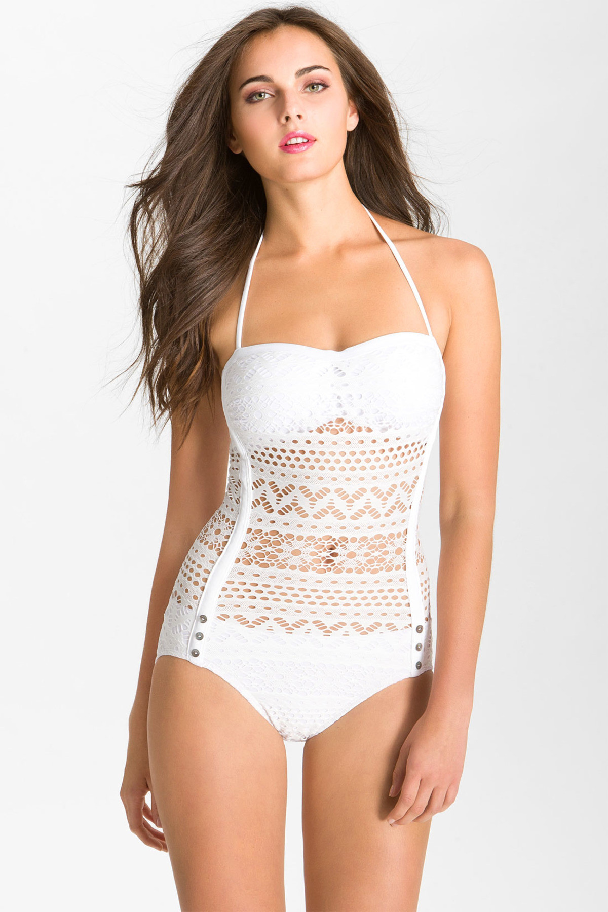 White Crochet One Piece Swimsuit New Lyst Robin Piccone Penelope Crochet Overlay E Piece Of Top 42 Images White Crochet One Piece Swimsuit