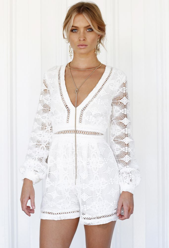 White Crochet Romper Awesome White Sheer Crochet Lace Romper by Xenia Boutique Of Attractive 45 Photos White Crochet Romper