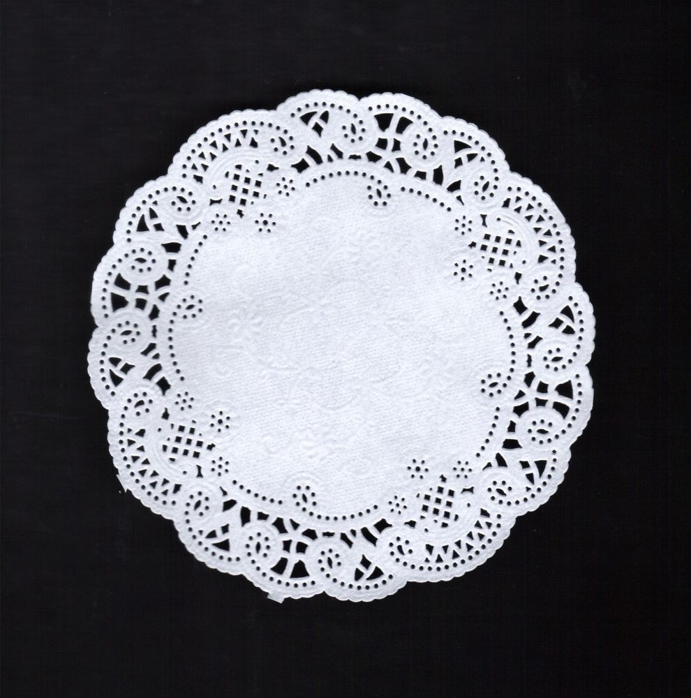 "White Doilies Awesome 50 8"" Round White Lace Paper Doily Doilies Party Of Awesome 41 Photos White Doilies"