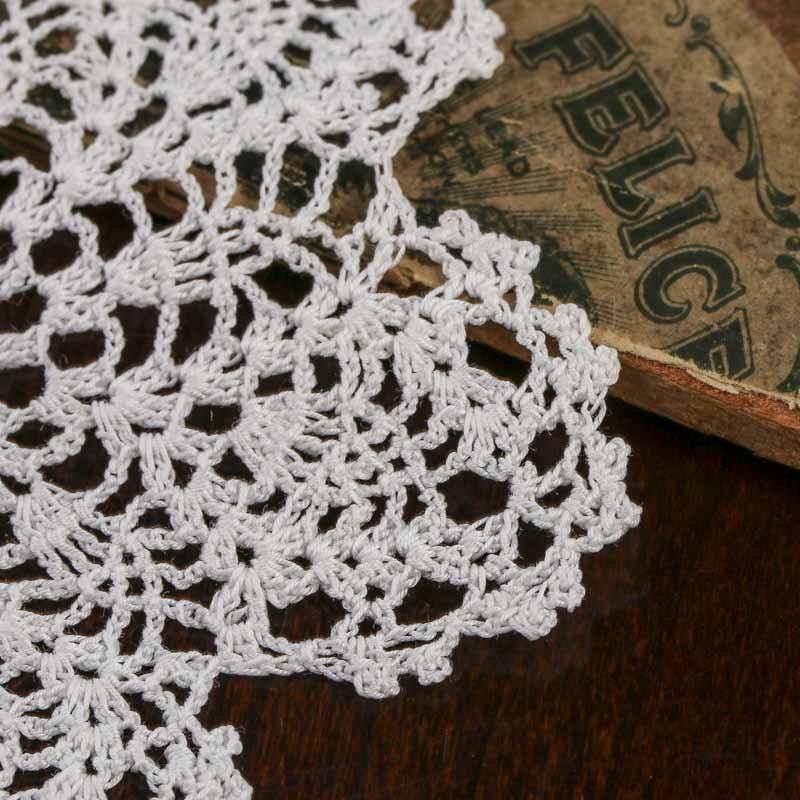 Small White Pineapple Crocheted Doily Crochet and Lace