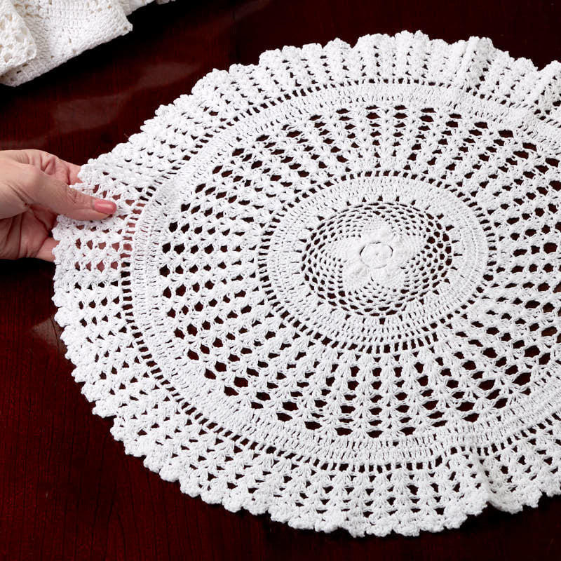 White Doilies Luxury White Round Crocheted Doily Crochet and Lace Doilies Of Awesome 41 Photos White Doilies