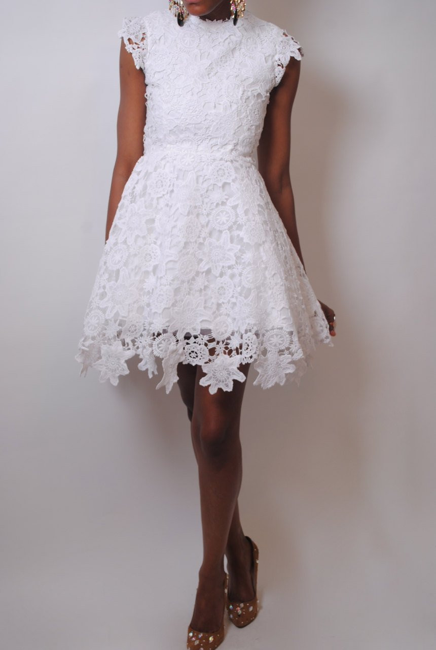 White Lace Crochet Dress Elegant Vintage Inspired Short Wedding Dress Lace by Of Awesome 48 Photos White Lace Crochet Dress