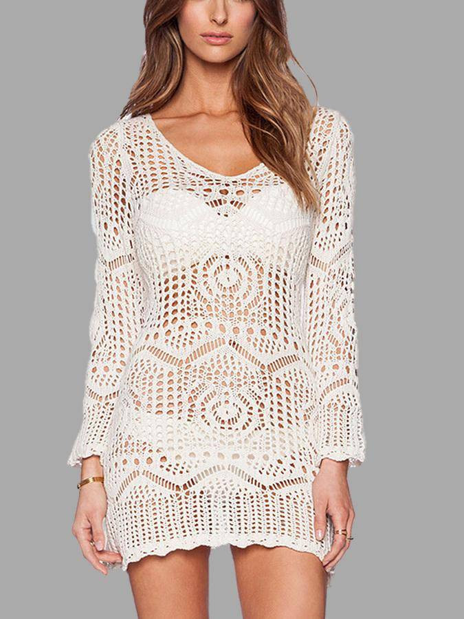 White Lace Crochet Dress Elegant White See Through Lace Crochet Dress Us$19 95 Yoins Of Awesome 48 Photos White Lace Crochet Dress