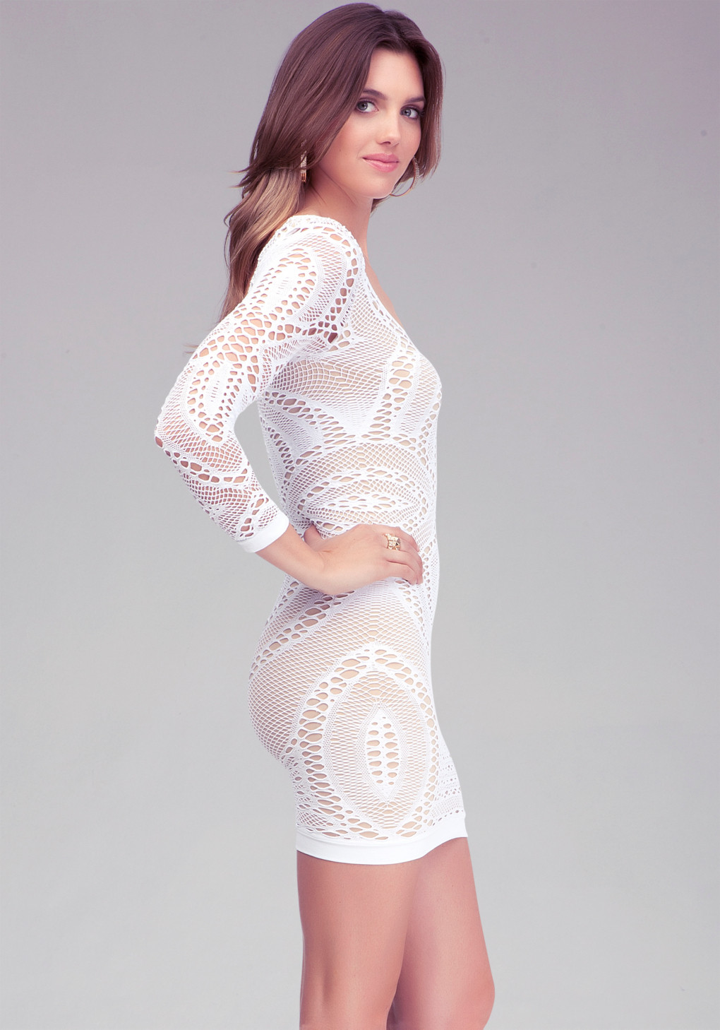 White Lace Crochet Dress Inspirational Bebe Crochet Lace Bodycon Dress In White Of Awesome 48 Photos White Lace Crochet Dress
