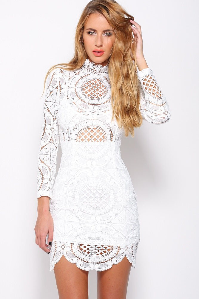 White Lace Crochet Dress Inspirational Rosa White Crochet Lace Dress Of Awesome 48 Photos White Lace Crochet Dress