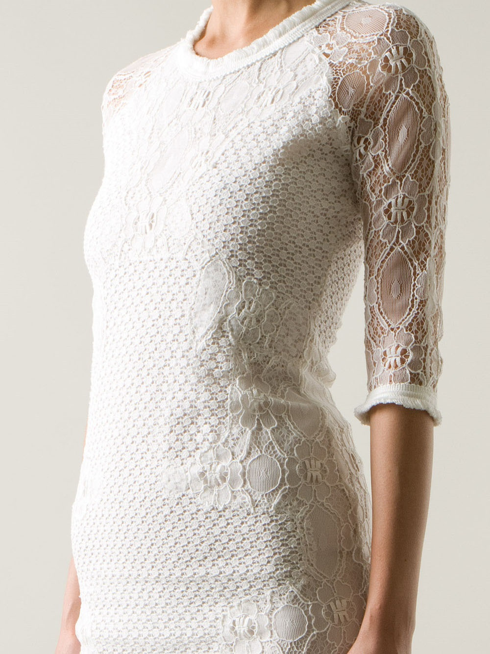 White Lace Crochet Dress Luxury Lyst Sea Lace Crochet Dress In White Of Awesome 48 Photos White Lace Crochet Dress