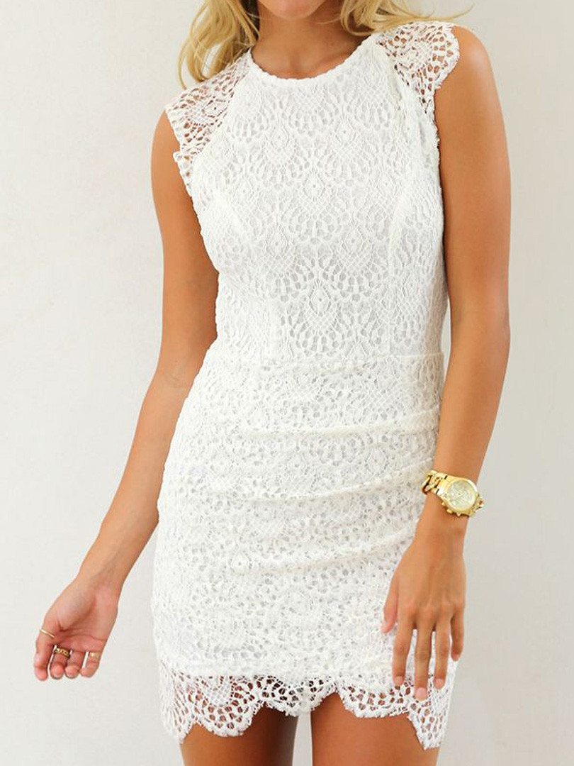 White Lace Crochet Dress New White Crochet Lace Spaghetti Strap Skater Dress Low Price Of Awesome 48 Photos White Lace Crochet Dress