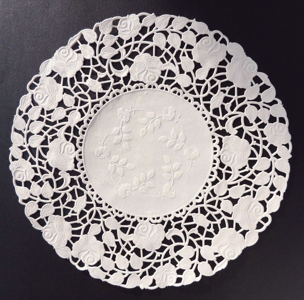 """White Paper Doilies Awesome 25 10"""" Ivory Rose Floral Lace Paper Doilies Of Amazing 42 Models White Paper Doilies"""