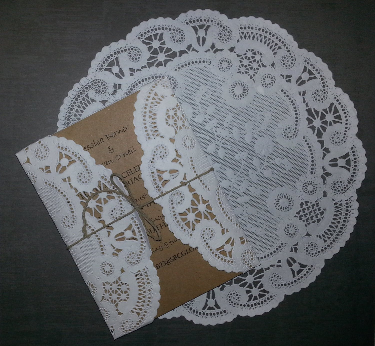 50 White round circular 8 or 10 inch French Lace Paper Doilies