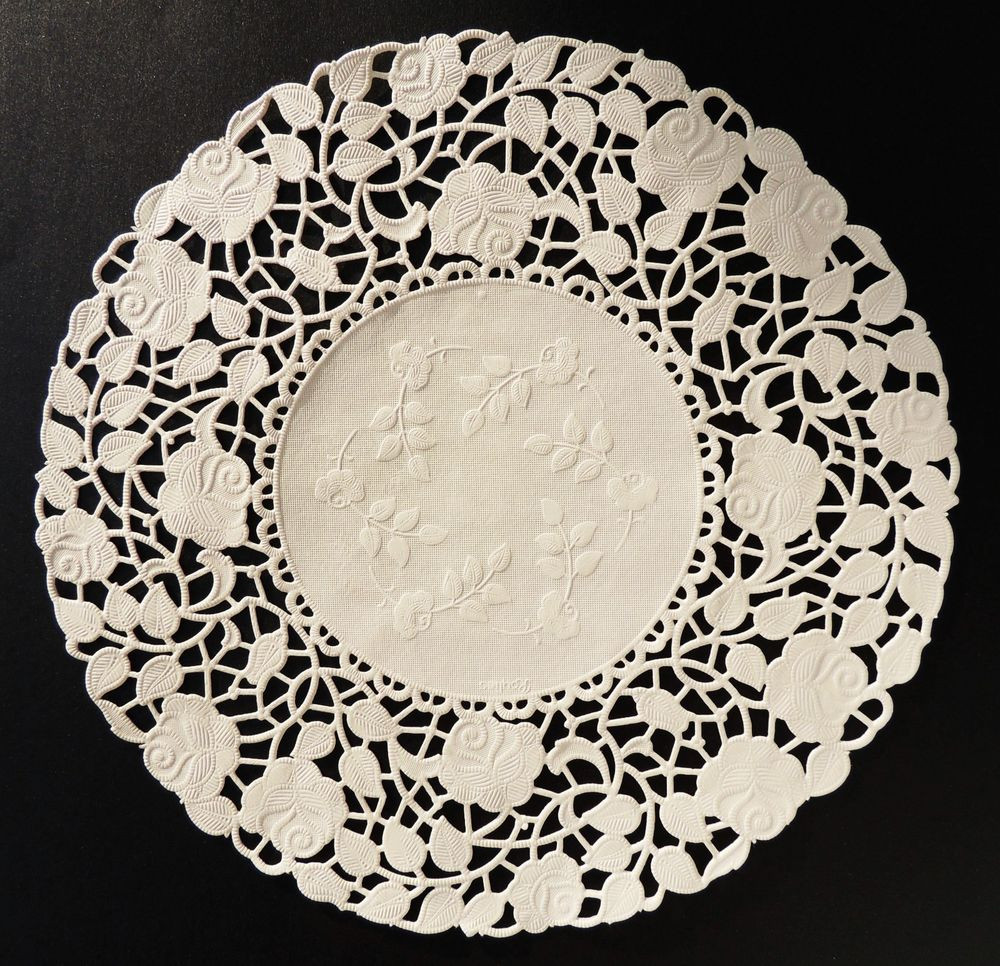 """White Paper Doilies Fresh 50 10"""" Ivory Rose Floral Lace Paper Doilies Of Amazing 42 Models White Paper Doilies"""