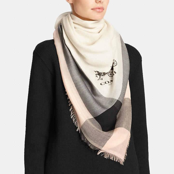Windowpane Scarf Awesome Coach Ficial Site Ficial Page Lightweight Windowpane Of Delightful 46 Photos Windowpane Scarf