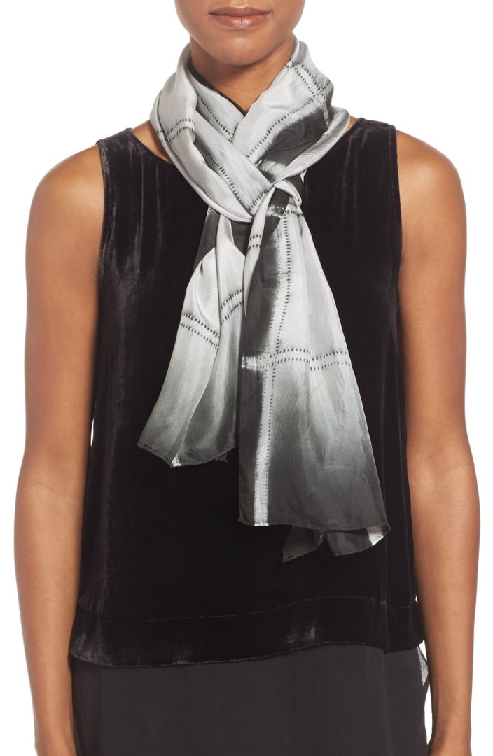 Windowpane Scarf Best Of Eileen Fisher Windowpane Shibori Silk Scarf Of Delightful 46 Photos Windowpane Scarf