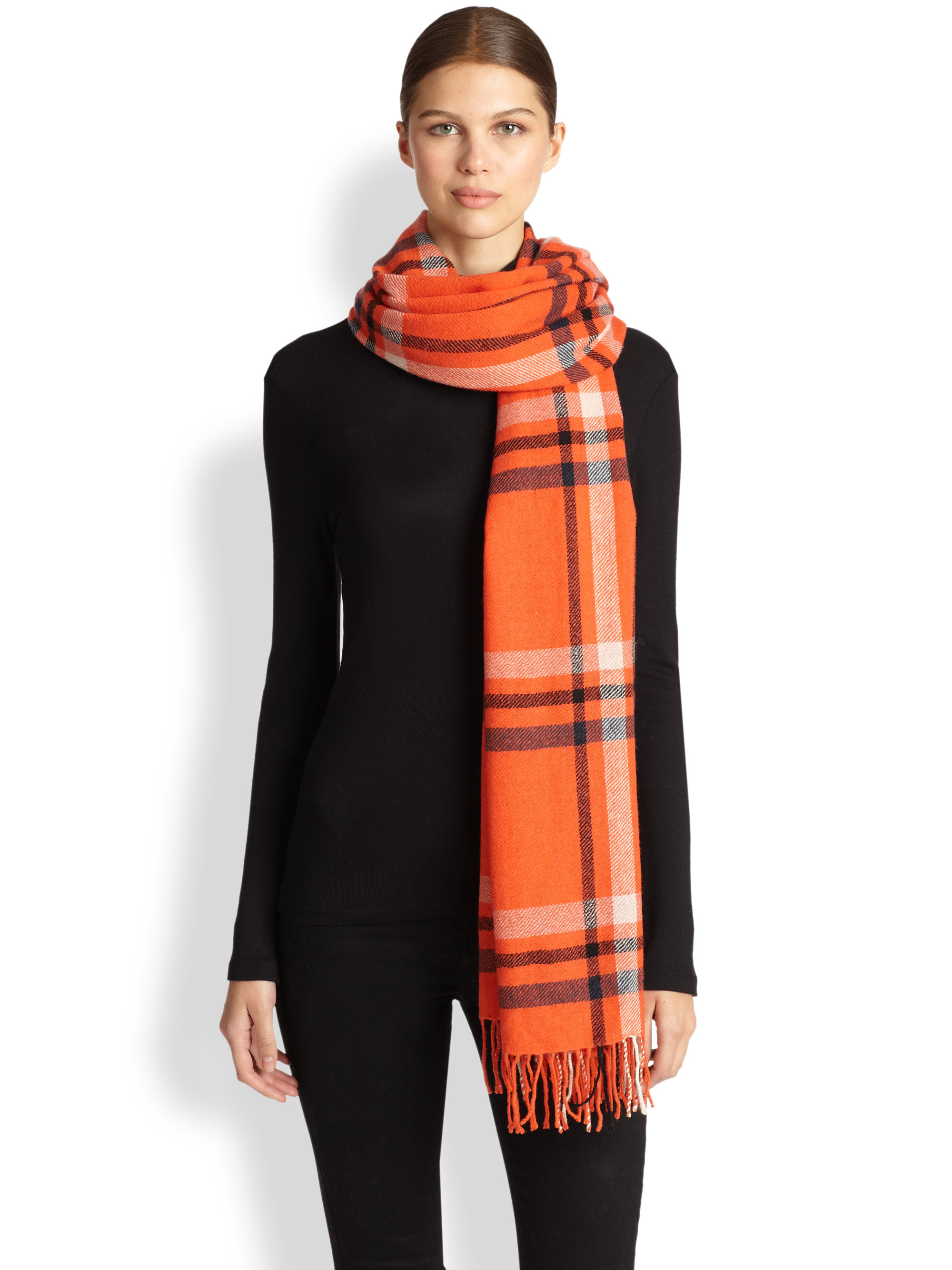 Windowpane Scarf Fresh Yarnz Double Windowpane Wool Cashmere Scarf In orange Of Delightful 46 Photos Windowpane Scarf