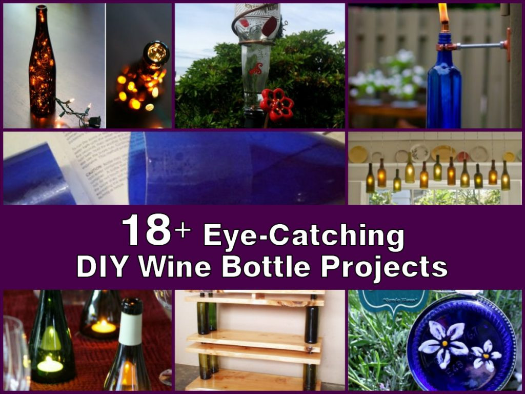18 Eye Catching DIY Wine Bottle Projects