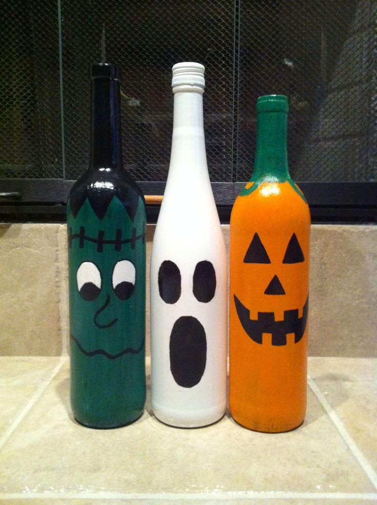 1000 ideas about Halloween Wine Bottles on Pinterest