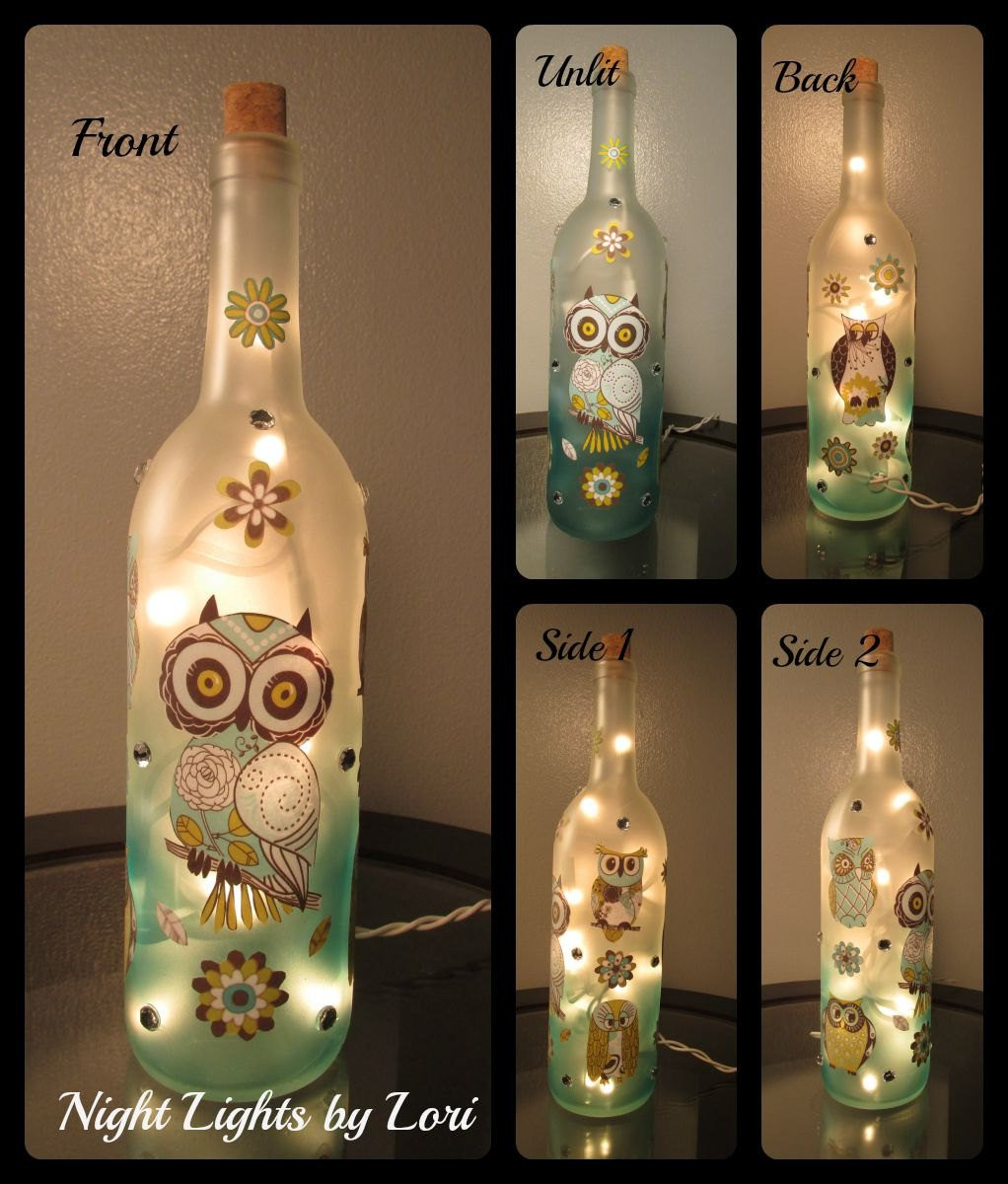 Wine Bottle Crafts Unique Owl Wine Bottle Night Light Of Luxury 40 Images Wine Bottle Crafts