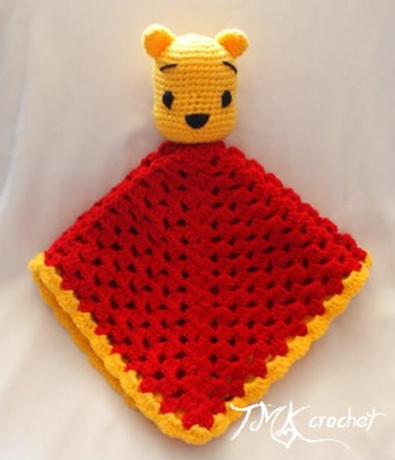 Winnie the Pooh Crochet Awesome Items Similar to Winnie the Pooh Inspired Crochet Lovey Of Wonderful 41 Ideas Winnie the Pooh Crochet
