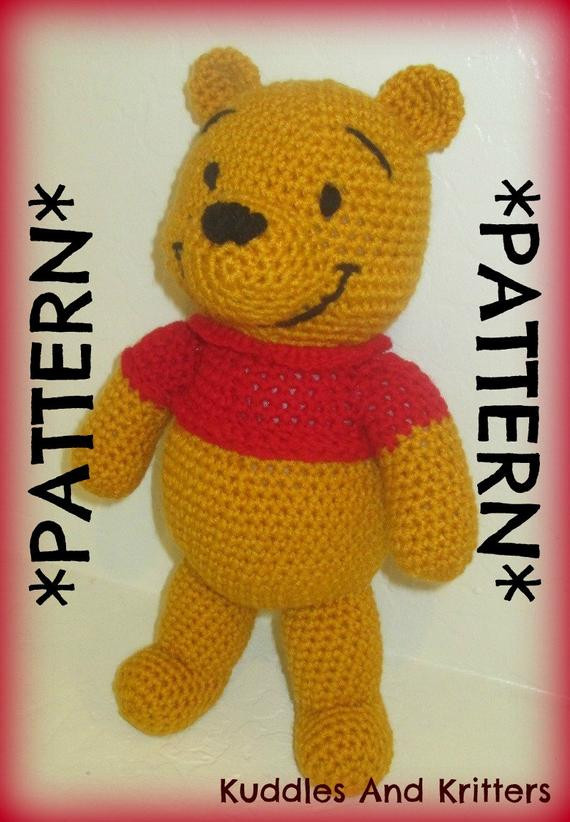 Winnie the Pooh Crochet Beautiful Pattern Only Crochet Winnie the Pooh Of Wonderful 41 Ideas Winnie the Pooh Crochet