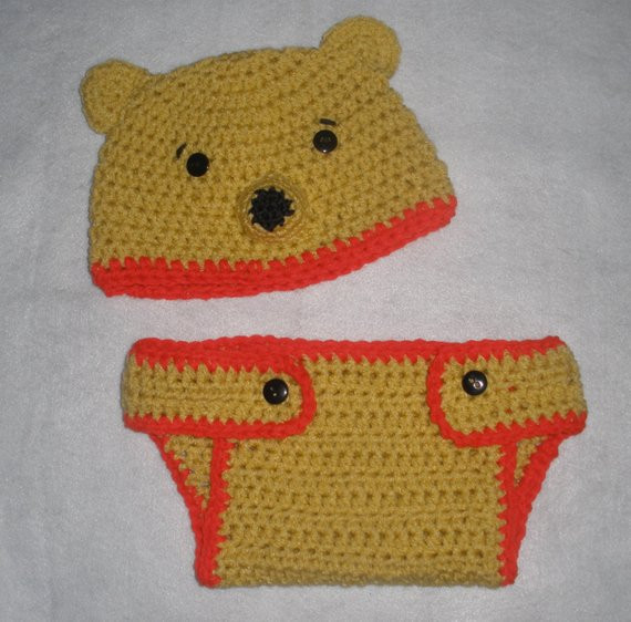 Winnie the Pooh Crochet Luxury Crochet Winnie the Pooh Bear Diaper Cover and Hat Set Of Wonderful 41 Ideas Winnie the Pooh Crochet