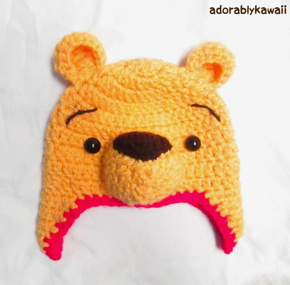 Winnie the Pooh Crochet Luxury Winnie the Pooh Crochet Hat Pattern for toddler Sizing Of Wonderful 41 Ideas Winnie the Pooh Crochet