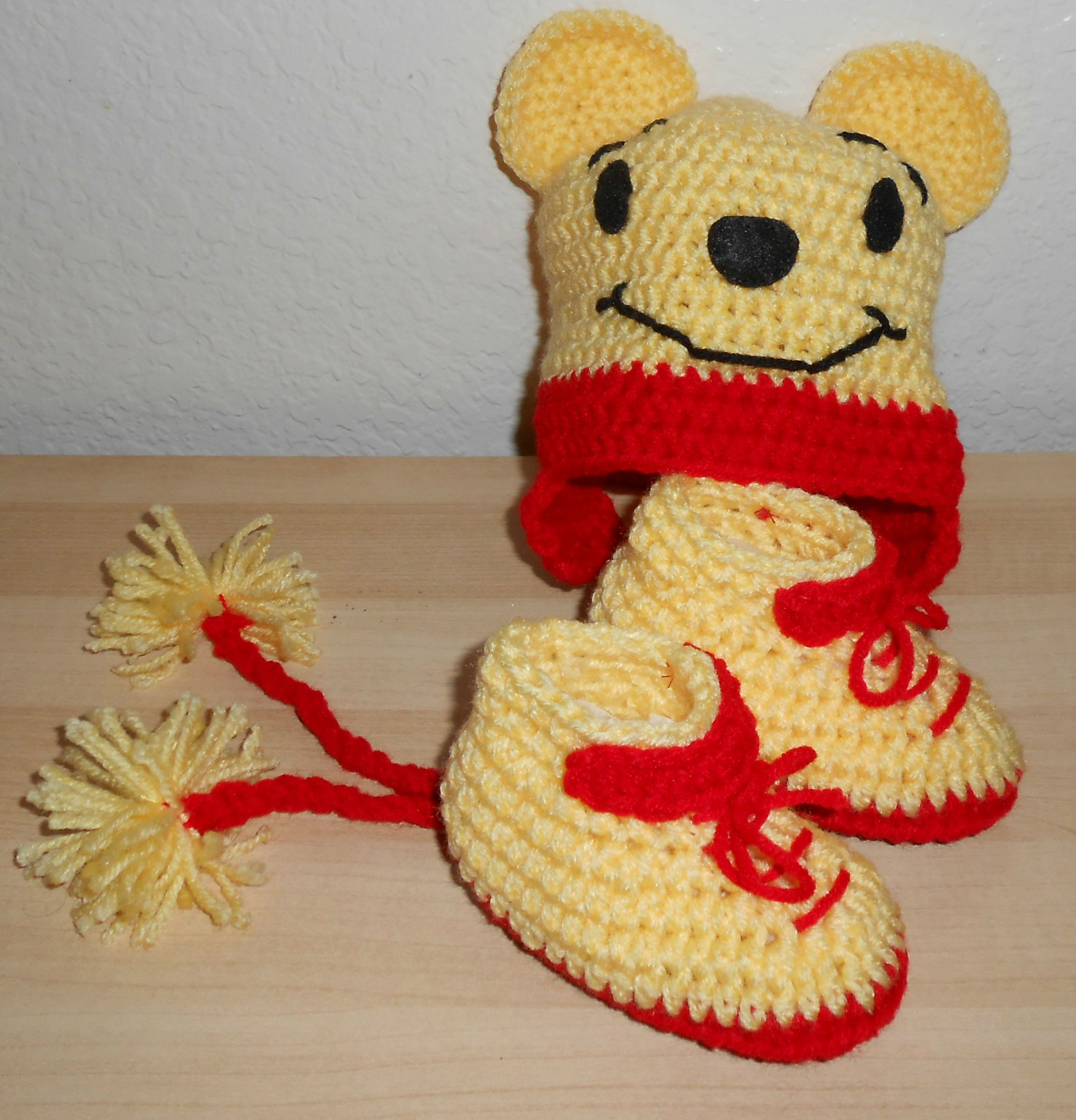 Winnie the Pooh Crochet Unique Winnie the Pooh Hat and Booties Set Crochet Of Wonderful 41 Ideas Winnie the Pooh Crochet