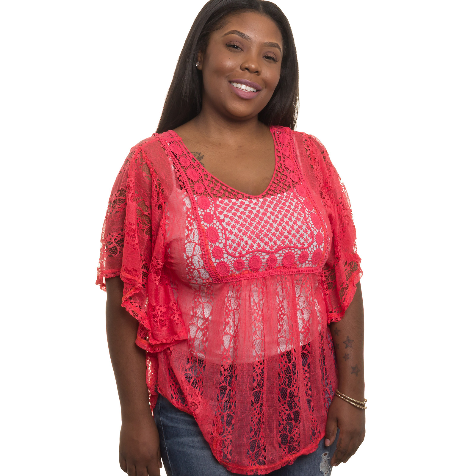 Women Crochet top Awesome Silver Lilly New Womens Junior Plus Size Sheer Crochet Of Fresh 44 Pictures Women Crochet top