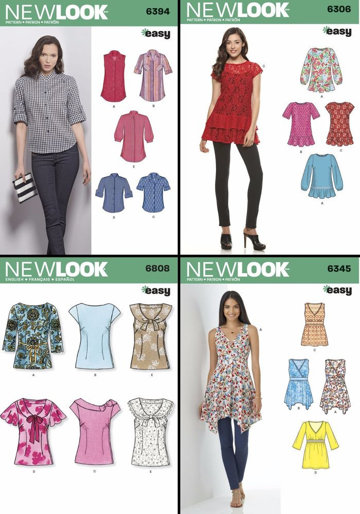 Women's Blouse Patterns Beautiful New Look Sewing Pattern Women S Misses Pullover tops Of Charming 43 Pictures Women's Blouse Patterns