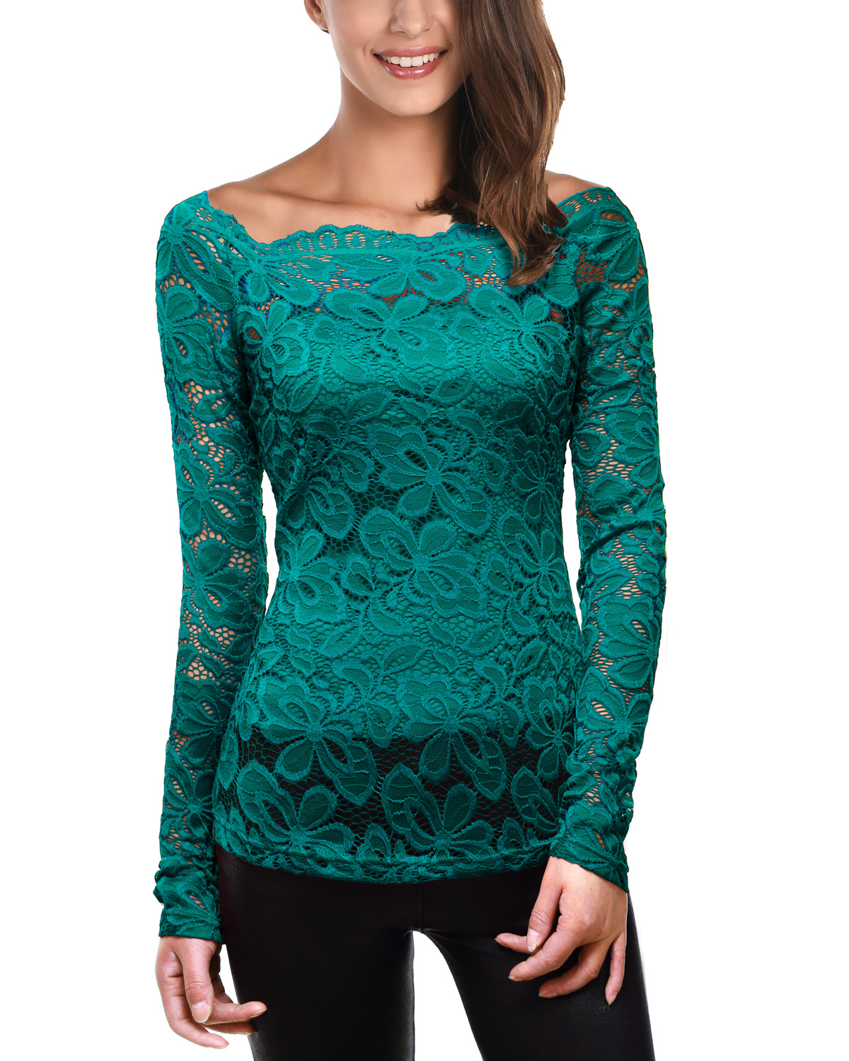 Women's Blouse Patterns Beautiful Women S Trendy Floral Lace Long Sleeves Tunic tops Blouse Of Charming 43 Pictures Women's Blouse Patterns