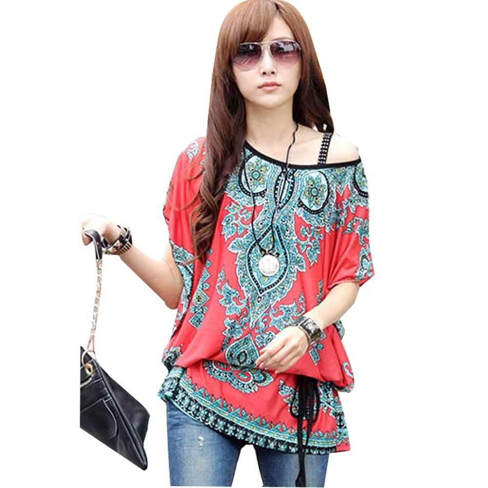 Women's Blouse Patterns Elegant Women S Relaxed Floral Print Bawting Sleeve Blouse Holiday Of Charming 43 Pictures Women's Blouse Patterns
