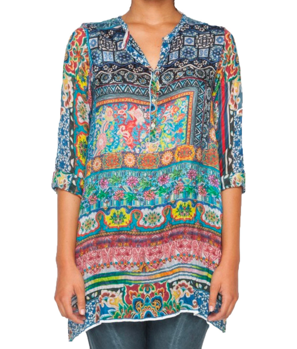 Women's Blouse Patterns New Johnny Was Women S Multi Frame Silk Tunic Blouse Of Charming 43 Pictures Women's Blouse Patterns