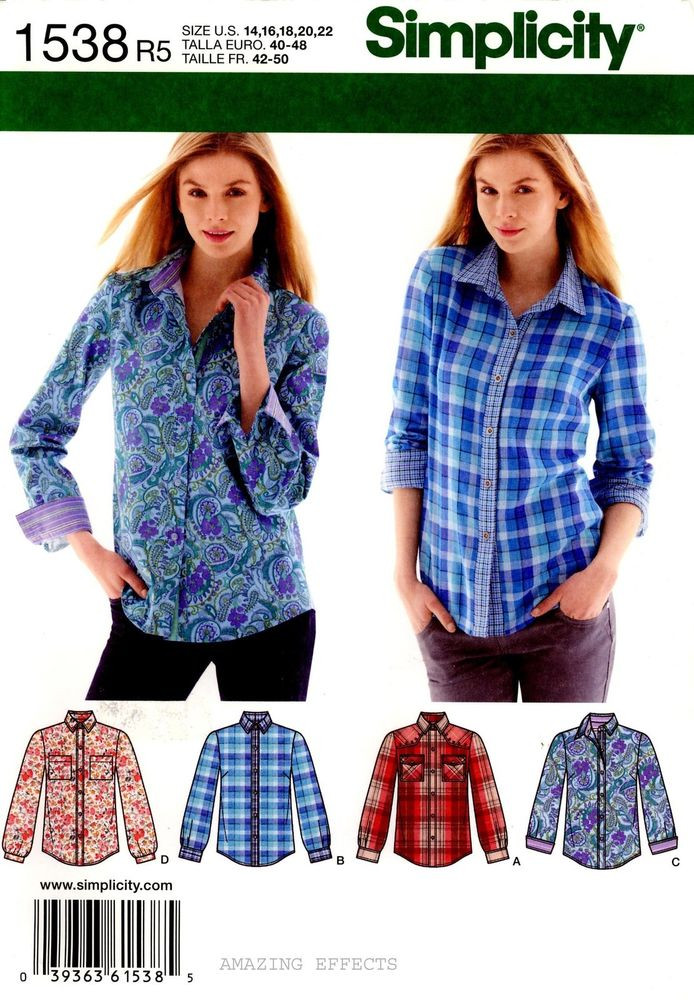 Women's Blouse Patterns Unique Simplicity Sewing Pattern 1538 Women S tops Shirts Blouse Of Charming 43 Pictures Women's Blouse Patterns