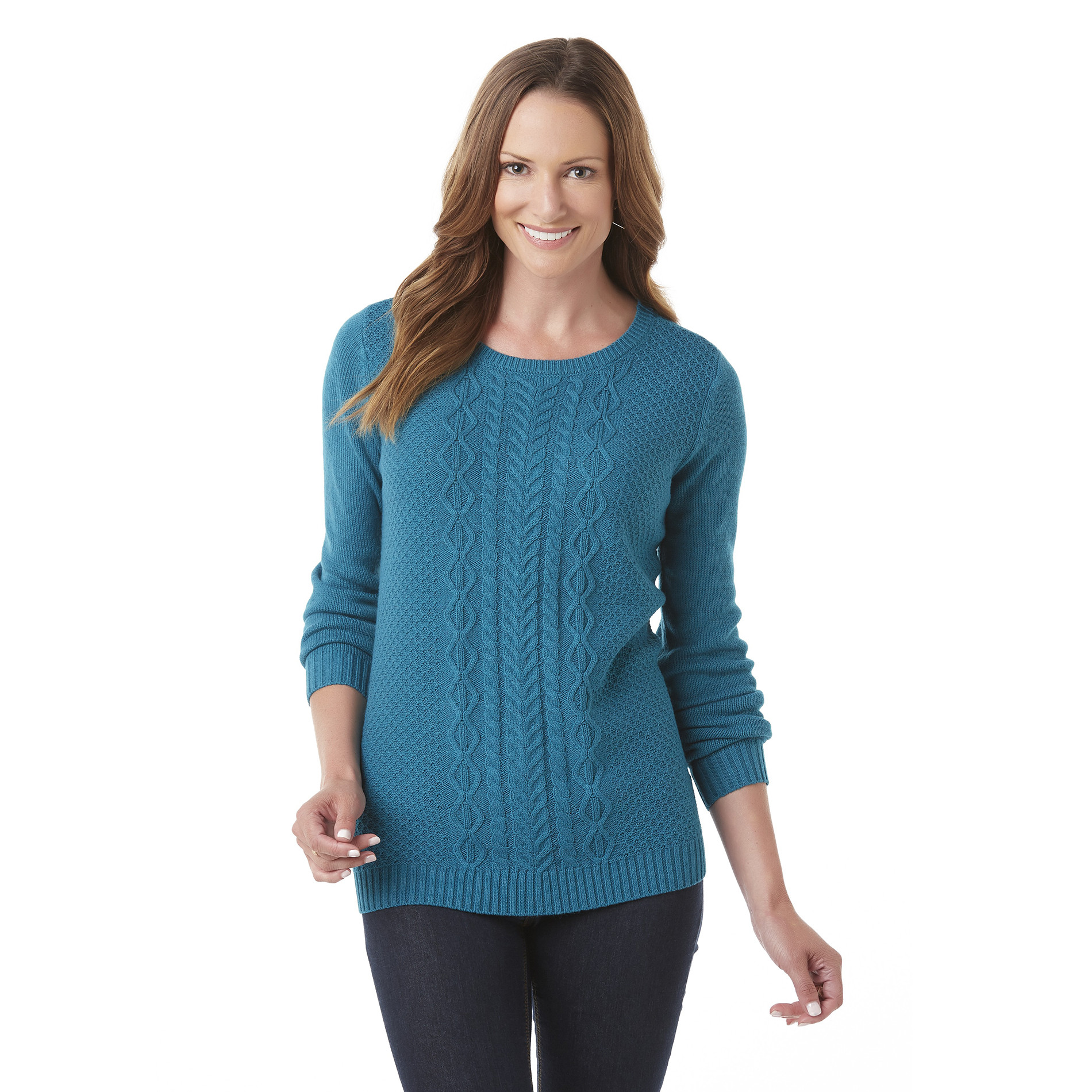 Laura Scott Women s Cable Knit Sweater