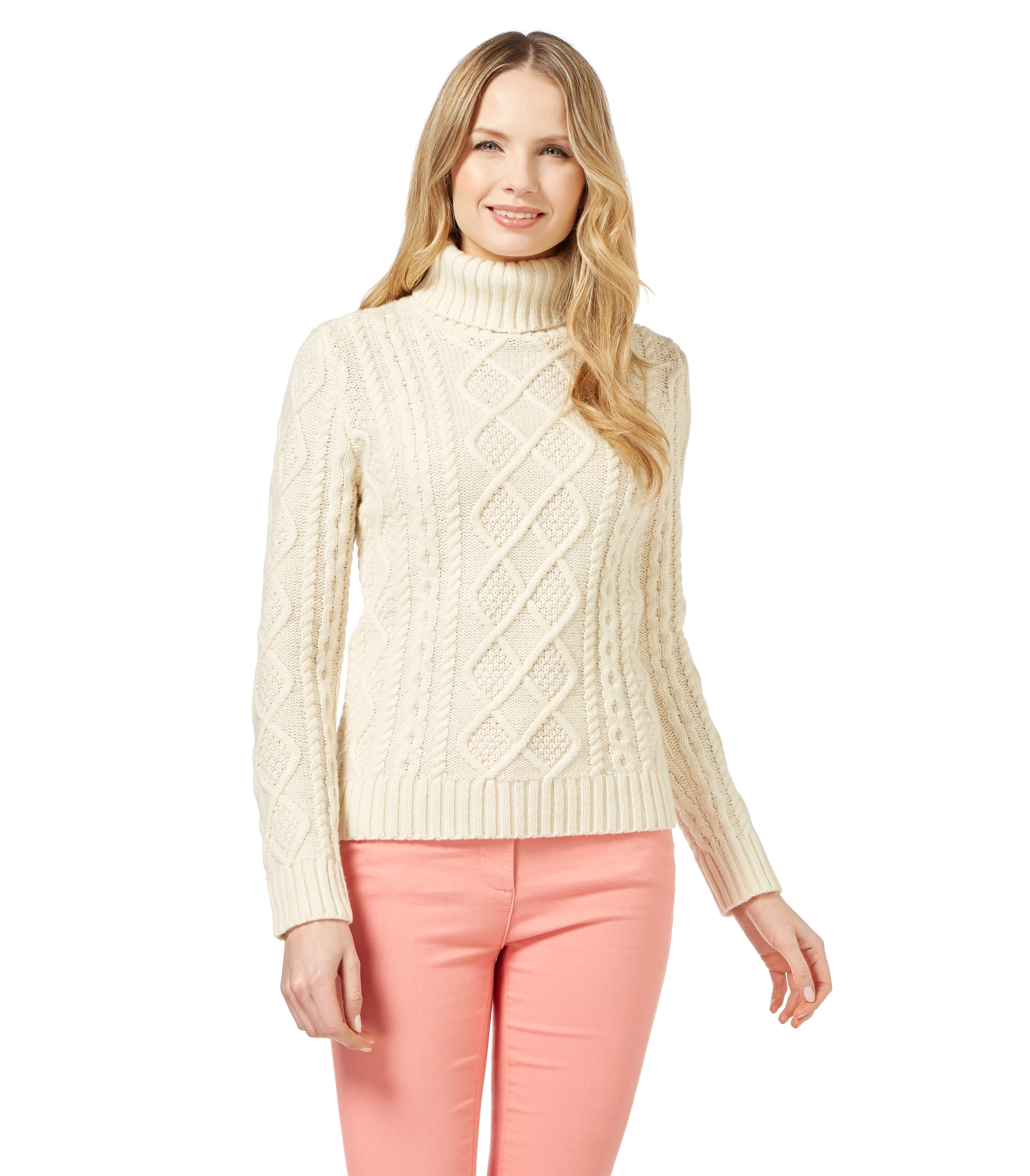 Womens Cable Knit Sweater Inspirational Woolovers Womens Lambswool Chunky Cable Polo Neck Long Of Innovative 44 Pics Womens Cable Knit Sweater