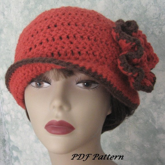 Womens Crochet Hat Patterns Best Of Womens Crochet Hat Pattern with Double Flower Trim Easy to Of Luxury 50 Photos Womens Crochet Hat Patterns