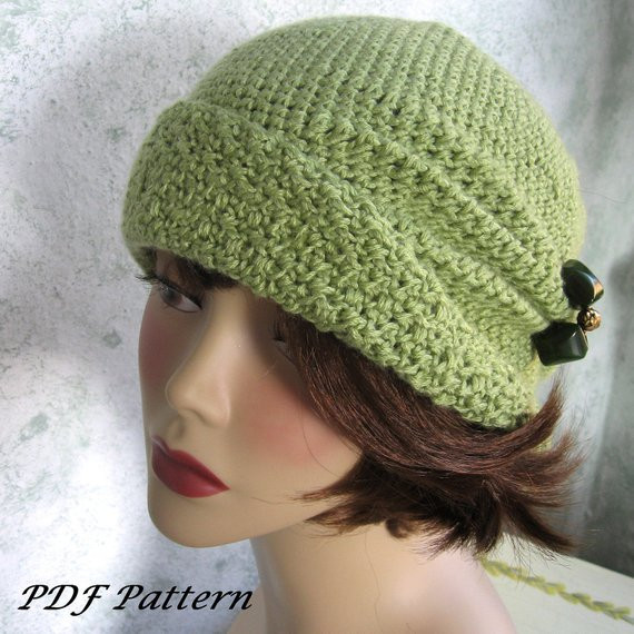 Womens Crochet Hat Patterns Elegant Crochet Pattern Womens Flapper Hat Cloche with Side Pinch Of Luxury 50 Photos Womens Crochet Hat Patterns