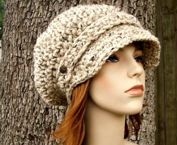 Womens Crochet Hat Patterns Lovely Crochet Hat Womens Hat Oatmeal Newsboy Hat Slouchy Hat Of Luxury 50 Photos Womens Crochet Hat Patterns
