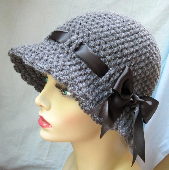 Womens Crochet Hat Patterns Lovely Items Similar to Crochet Womens Hat Charcoal Gray Cloche Of Luxury 50 Photos Womens Crochet Hat Patterns
