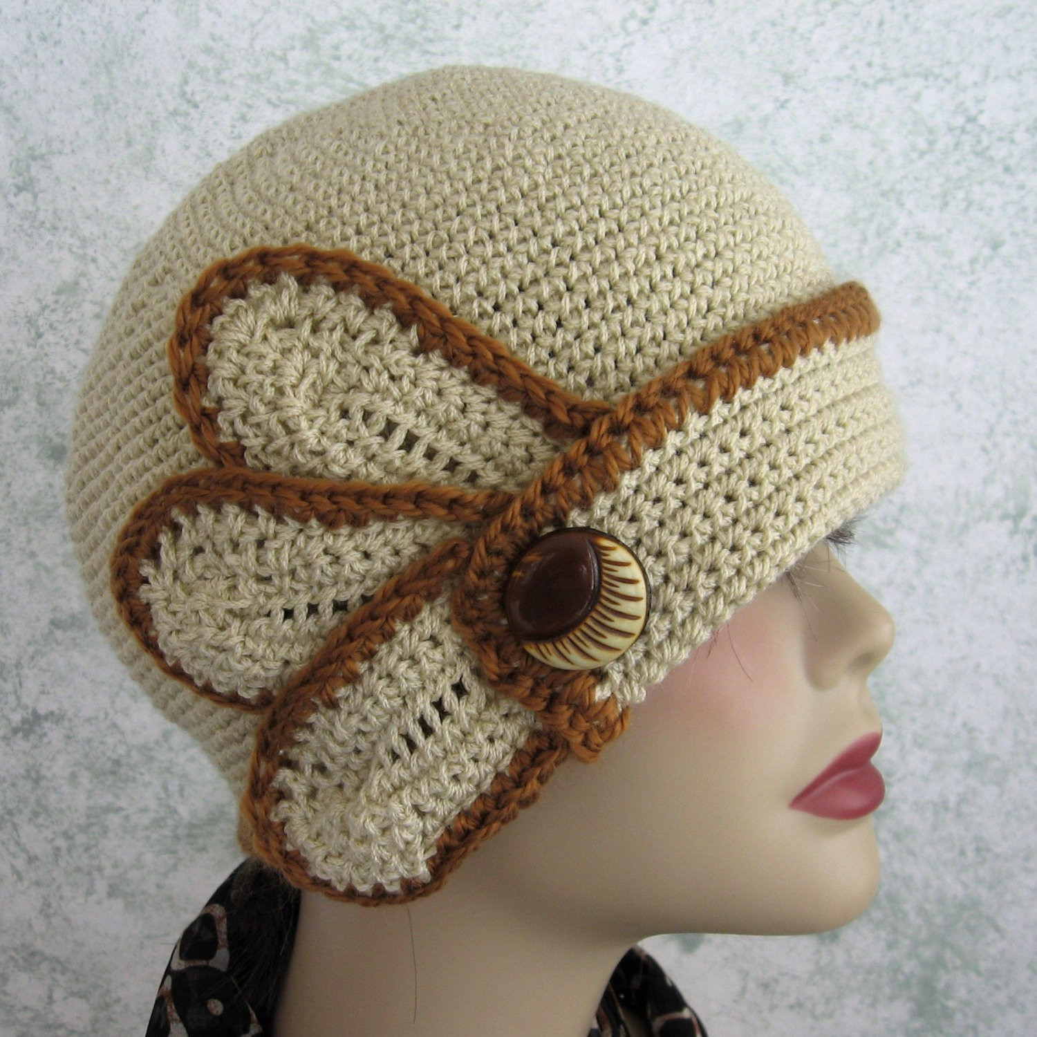 Womens Crochet Hat Patterns New Crochet Hat Pattern Womens Flapper Style with Petal and button Of Luxury 50 Photos Womens Crochet Hat Patterns