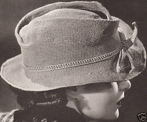 Womens Fedora Hat Vintage Crochet Pattern 1930s Costume