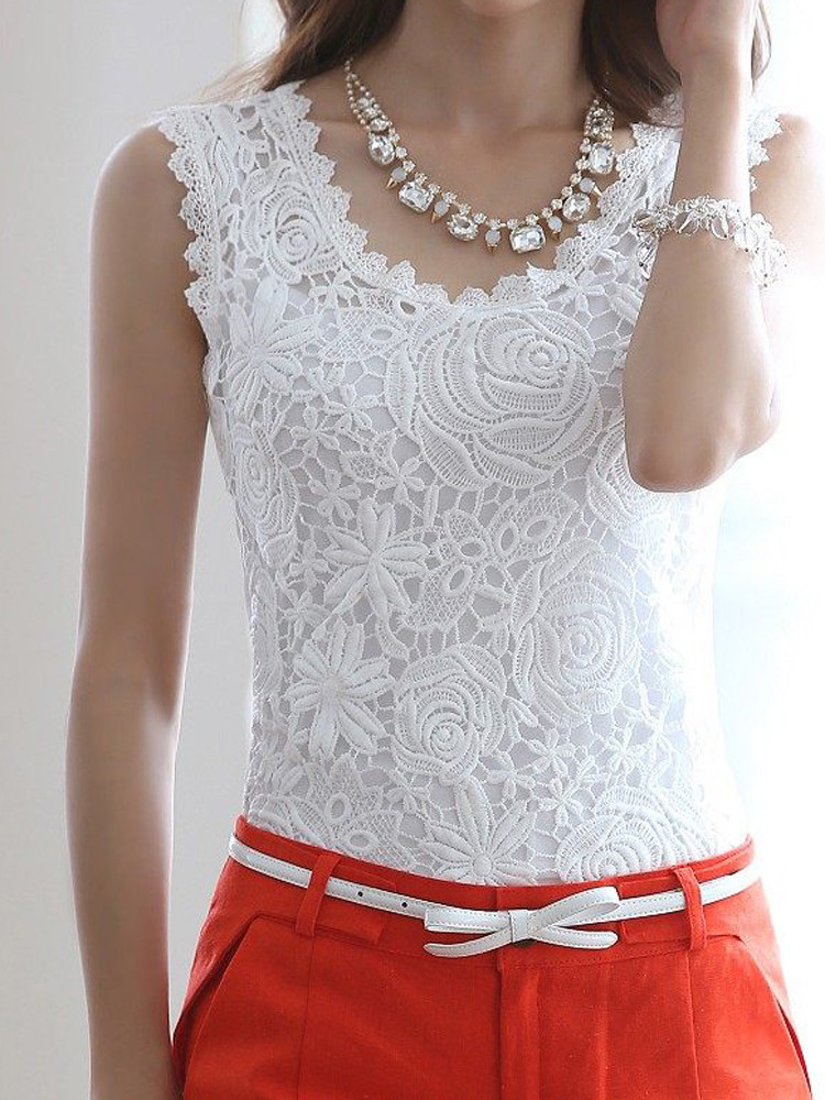 Womens Crochet tops Best Of Elegant Women Floral Crochet Lace Sleeveless Tank tops Of Unique 46 Pics Womens Crochet tops