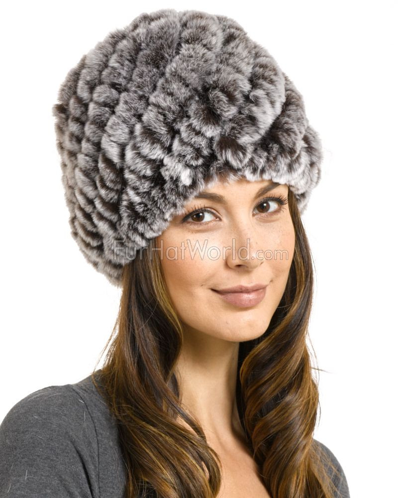 Womens Knit Hats Beautiful Hailey Knit Rex Rabbit Fur Beanie Hat In Brown Frost Of Innovative 50 Images Womens Knit Hats